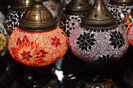 Authentic Turkish Lamps in Shop photo