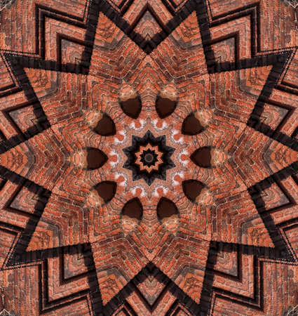 brown geometric pattern photo