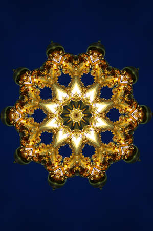 brown with blue kaleidoscope photo