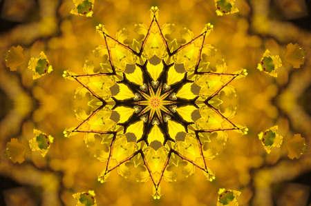 yellow ornament photo