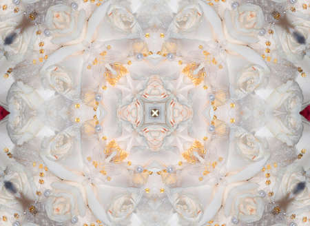 ornament of white roses photo