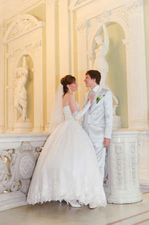 newlyweds in a beautiful palace Stock Photo - 8995959