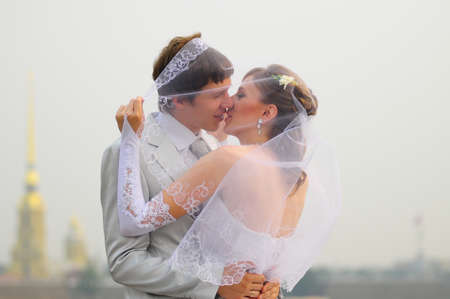 Wedding Kiss Stock Photo