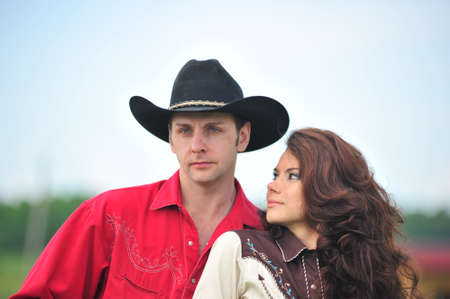 cowboy with his wife photo
