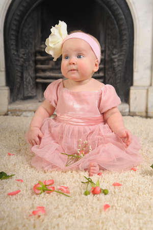 Baby with a rose Stock Photo - 9000229