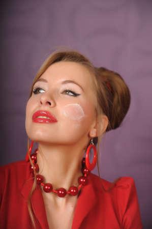 Pin-up girl. American style woman photo
