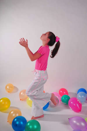 Girl with balloons Stock Photo - 8690602