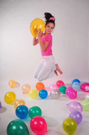 Girl with balloons Stock Photo - 8690601