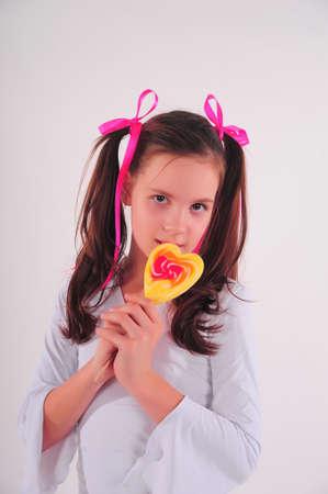 blonde hispanic: Candy Girl Stock Photo