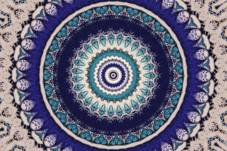 oriental ornament in blue tones photo
