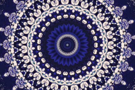 splendour: oriental ornament in blue tones