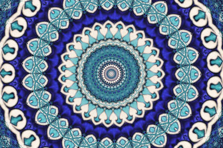 oriental ornament in blue tones photo