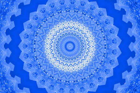 meandering: blue mandala Stock Photo