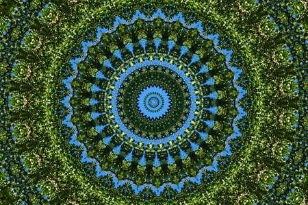 green ornamental kaleidoscope Stock Photo - 8701950