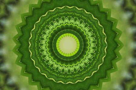 notecard: green geometric pattern