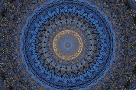 fractals: illustration of Colorful circular background made in oriental style