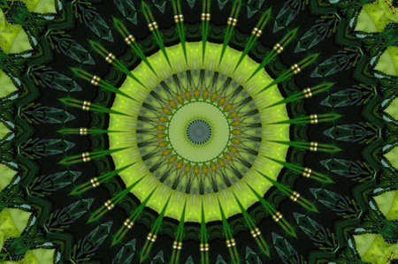 Green Kaleidoscope photo