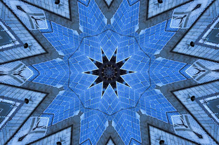 blue geometric pattern photo