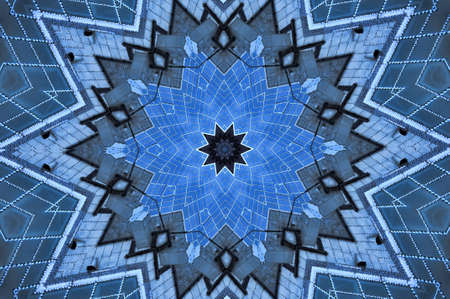 blue geometric pattern Stock Photo - 8699901