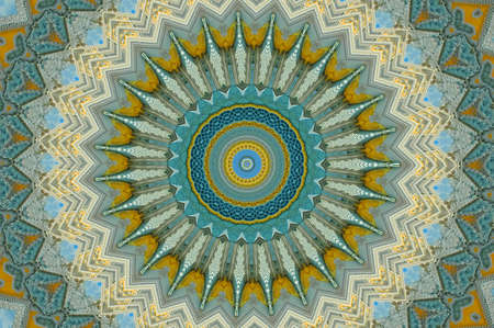 blue and yellow pattern photo