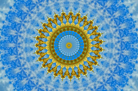 blue and yellow pattern photo