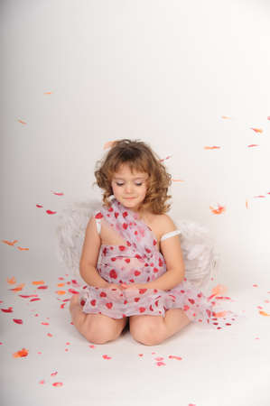St. valentines day angel girl photo