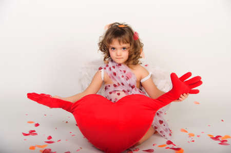Valentines Day Cupid Isolated on White photo