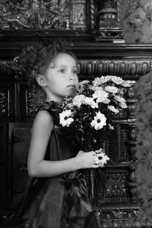 portrait of a girl with a bouquet of flowers Stock Photo - 9674934