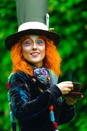 Crazy Hatter with a cup of tea photo