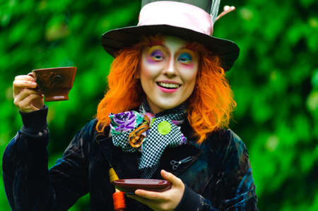 Crazy Hatter with a cup of tea Stock Photo - 8798232