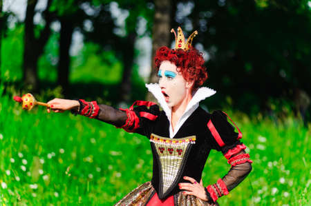 Red Queen from a fairy tale Alice in Wonderland Stock Photo - 9215845