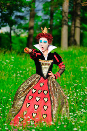 Red Queen from a fairy tale Alice in Wonderland