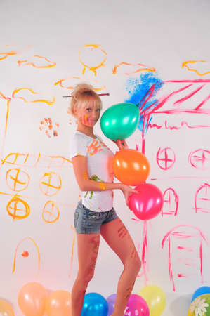 love blow: balloons party girl