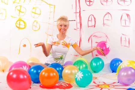 balloons party girl photo