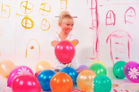 balloons party girl photo