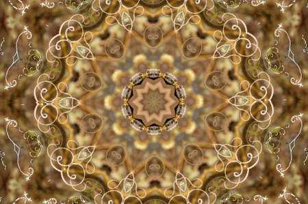 brown retro pattern photo