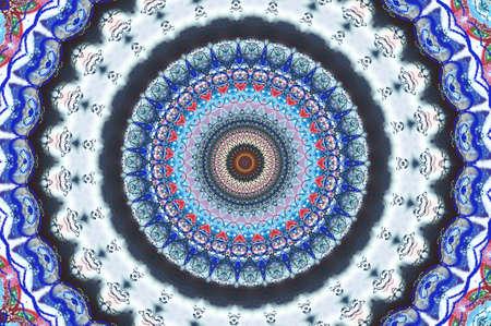 bright circular oriental ornament photo