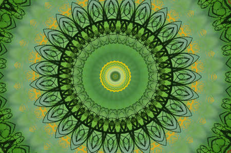 green circular pattern photo