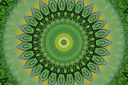 nostalgic: green circular pattern