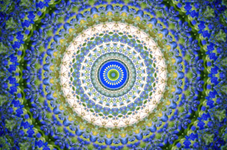 green with a blue circular pattern photo