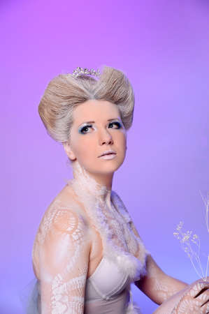 Portrait of snow queen photo