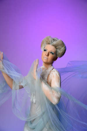 snow queen: Portrait of snow queen Stock Photo