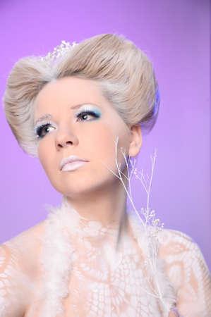 Portrait of snow queen photo