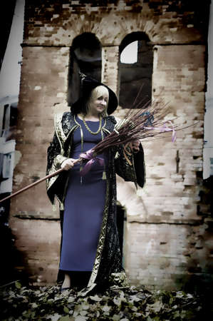 Woman Dressed as an Witch photo