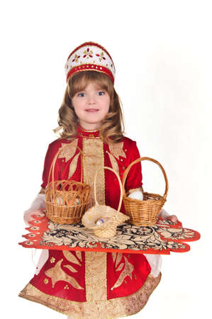 Little Girl with Easter eggs Stock Photo - 8907918