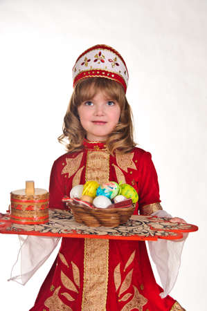Little Girl with Easter eggs Stock Photo - 8907914