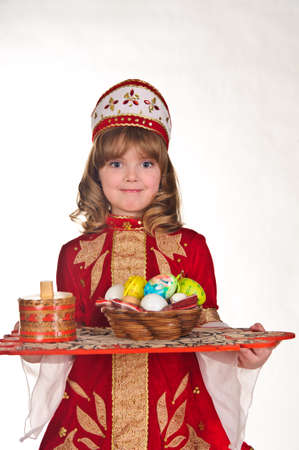 Little Girl with Easter eggs Stock Photo - 8907889