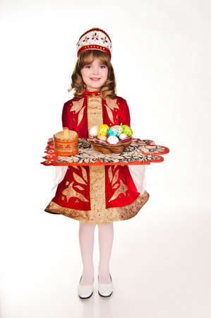 Little Girl with Easter eggs Stock Photo - 8907842
