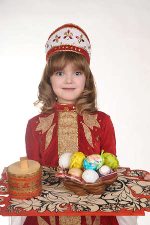 Little Girl with Easter eggs Stock Photo - 8907974