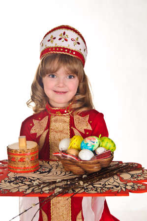 Little Girl with Easter eggs photo